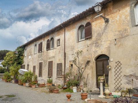 ancient ostia pictoresque medieval village