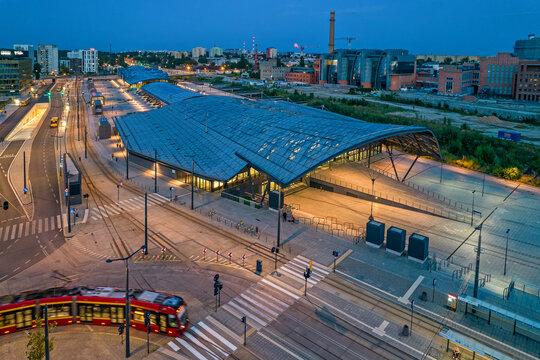 Dworzec Łódź Fabryczna.