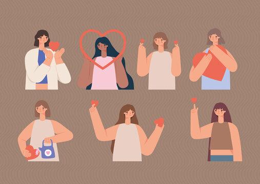 eight loving women