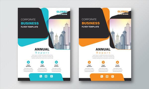 Annual Report Layout Design Template. Corporate Business flyer Background,  Catalog, Cover, Booklet, Brochure, Magazine, Poster, Corporate Presentation, Portfolio, Banner, Web, Design Concept Idea.