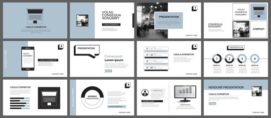 Fototapeta Presentation and slide layout template. Design blue pastel background. Use for business annual report, flyer, marketing, leaflet, advertising, brochure, modern style. obraz