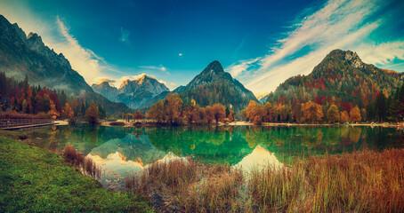 Fototapeta Jasna lake, Slovenia obraz