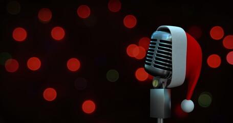 Microphone and Santa hat 4k