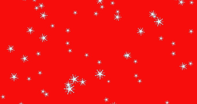 Multiple stars falling against red background