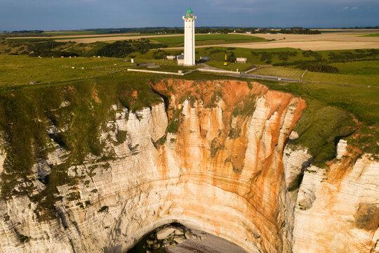 Antifer lighthouse and cliffs