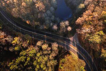 Fototapeta Droga jesienią  obraz