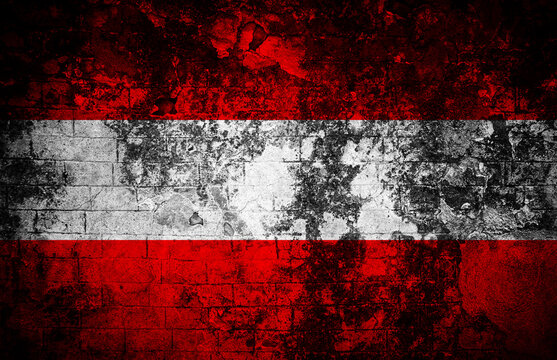 Old  texture background with flag