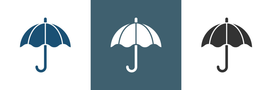 Regenschirm Vektor Logo