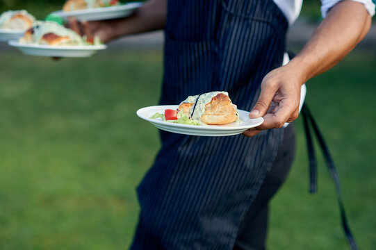 Crop waiter with palatable dishes