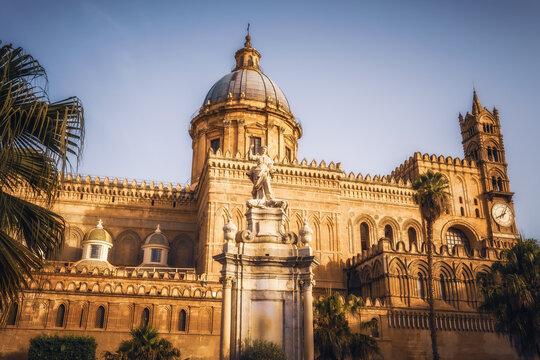 christlich katholische Kathedrale von Palermo auf Sizilien in Italien, Europa