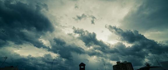 Nubes antes de llover