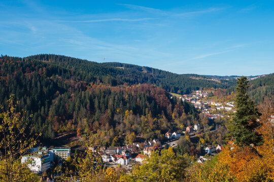 Orte im Schwarzwald von oben