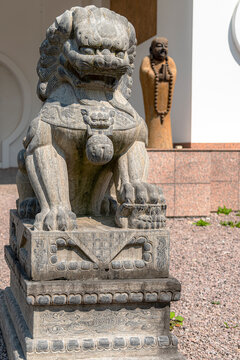 Yangtorp Sanctuary Chinese Lion Statue