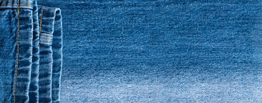 Blue Jeans and Stitches Texture Background