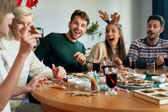 Great fun around Christmas table
