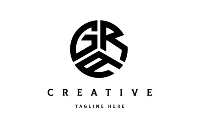 Obraz GRA creative circle three letter logo - fototapety do salonu