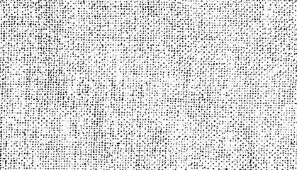 Fototapeta Distressed fabric texture. Vector texture of weaving fabric. Grunge background. Abstract halftone illustration vector  obraz