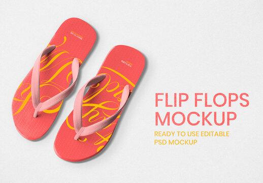 Editable Flip Flops Mockup