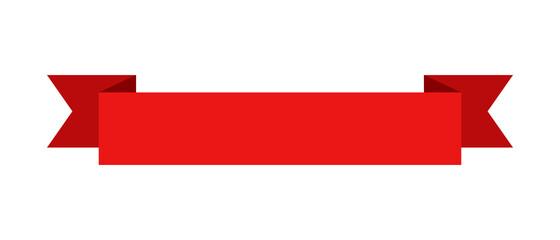 Fototapeta Red banner ribbon obraz