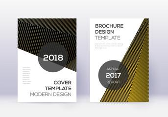 Obraz Modern cover design template set. Gold abstract li - fototapety do salonu