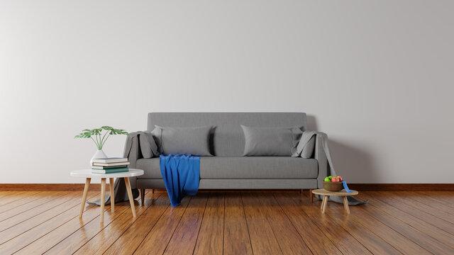 3D rendering living room interior minimalist.