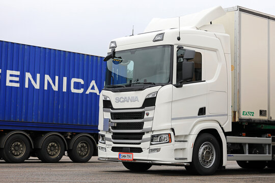 New White Scania R500 Heavy Truck Parked.