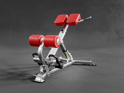 Dumbbell stool model on gray background