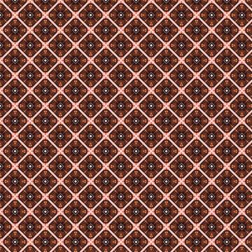 pink and brown tartan graphic print