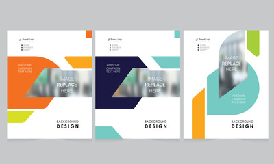 Fototapeta Cover design for annual report and business catalog, magazine, flyer or booklet. Brochure template layout. A4 cover vector EPS-10 obraz