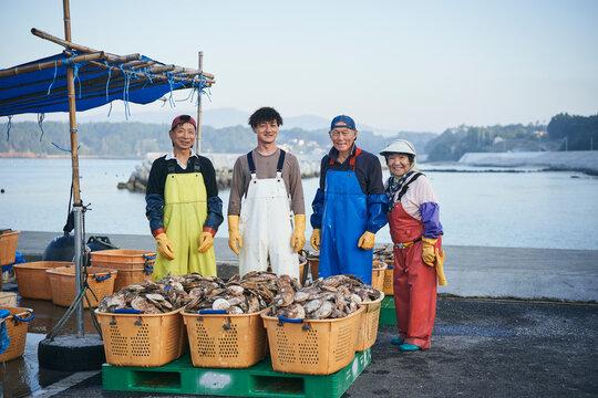 漁師の家族