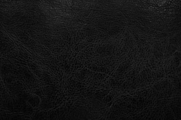 Fototapeta Dark black leather texture background. Abstract background concept obraz