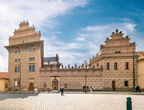 Prague, Czech Republic - August 30, 2021: Prague castle. popular tourist attraction. Travel and sights of city breaks. landmarks, travel guide and postcard.