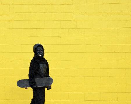 Strange Gorilla Skateboarder