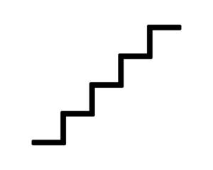 schody ikona na białym tle