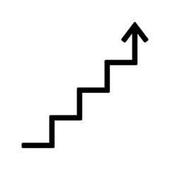 Fototapeta strzałka, wykres, schody ikona obraz