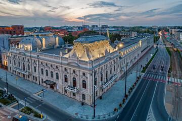 Fototapeta Łódź, Poland- view of the Poznański Palace. obraz