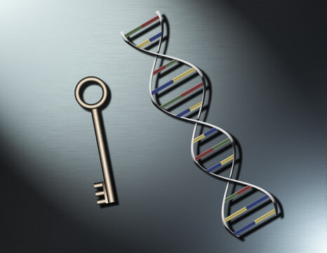 DNA Strand and Key
