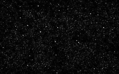 Fototapeta Space background. Dark cosmos texture and white stars. Realistic constellations. stardust backdrop. Starry night sky and milky way. Vector illustration obraz