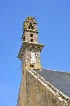 Church tower at a small church in Brittany, France