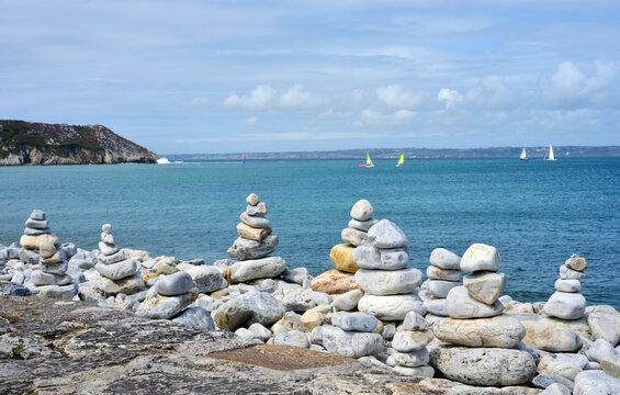 Camaret sur Mer, France, view to the coast line, crozon peninsula, Finistere