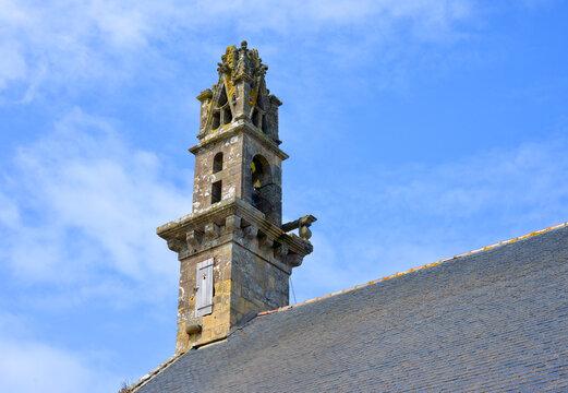 Historical old church tower in Camaret sur Mer, France