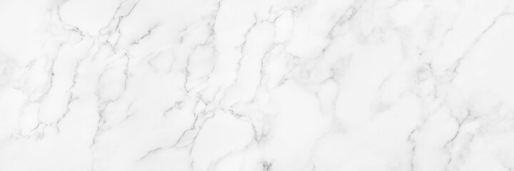 Obraz Panorama white marble texture for background or tiles floor decorative design. - fototapety do salonu