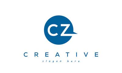 Fototapeta CZ creative circle letter logo design victor obraz