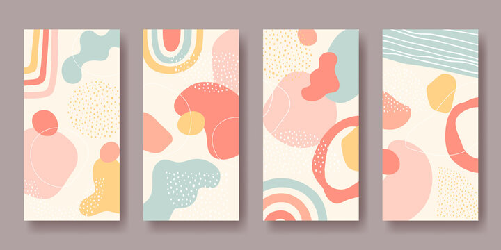 Set of vector backgrounds with abstract ornament