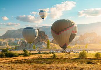 Hot air balloons in morning