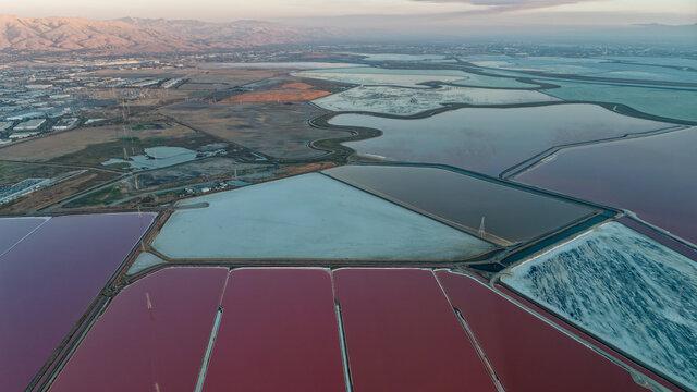 Salt ponds near Don Edwards San Francisco Bay National Wildlife Refuge