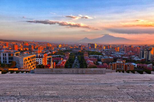 Golden hour in Yerevan