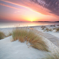 Fototapeta Sonnenuntergang am Strand obraz