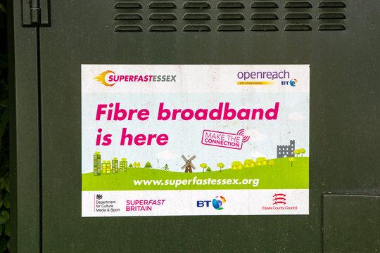 Fibre Broadband Sign in Essex, UK