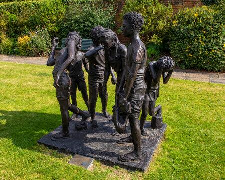 The Children of Calais Sculpture in Saffron Walden, Essex